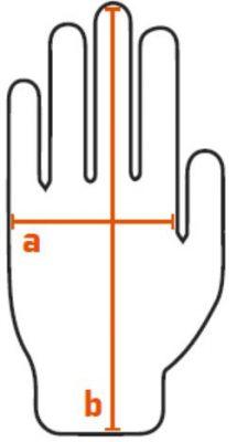 guia de tallas guantes MT