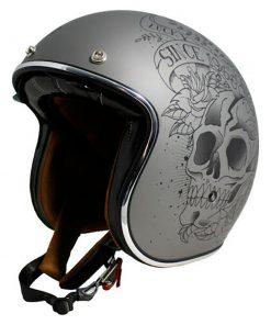 Casco MT LE MANS 2 SV SKULL & ROSES pirata motos