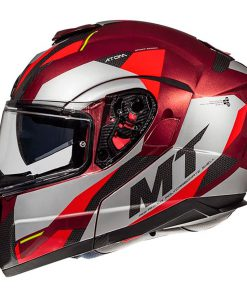 Casco MT ATOM SV TRANSCEND F5 GLOSS RED modular