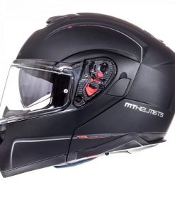 Casco MT ATOM SV SOLID MATT BLACK modular