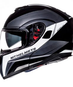 Casco MT ATOM SV TARMAC GLOSS BLACK/MATT WHITE modular