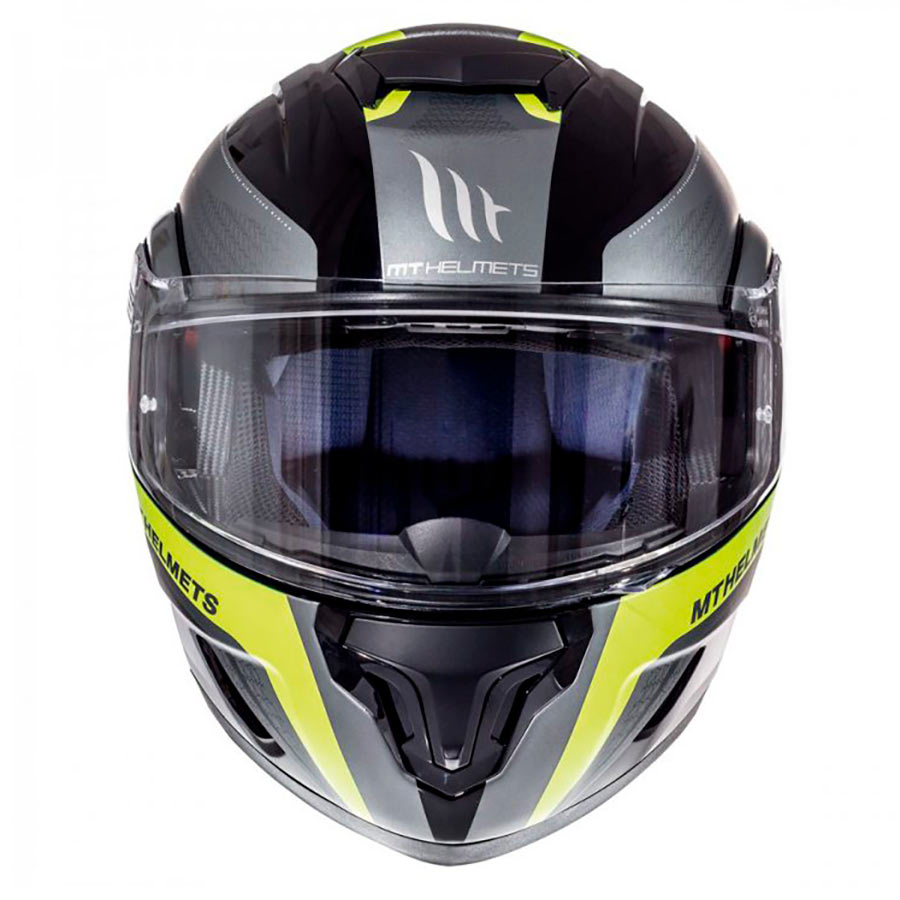 7af2906c Casco MT ATOM SV TARMAC GLOSS BLACK/MATT FLUOR YELLOW modular