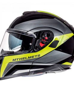 Casco MT ATOM SV TARMAC GLOSS BLACK/MATT FLUOR YELLOW modular