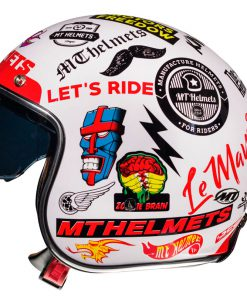 Casco MT LE MANS 2 SV ANARCHY WHITE