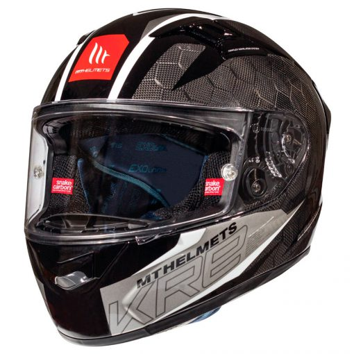 Casco MT KRE SNAKE CARBON 2.0 A0 GLOSS WHITE Integral