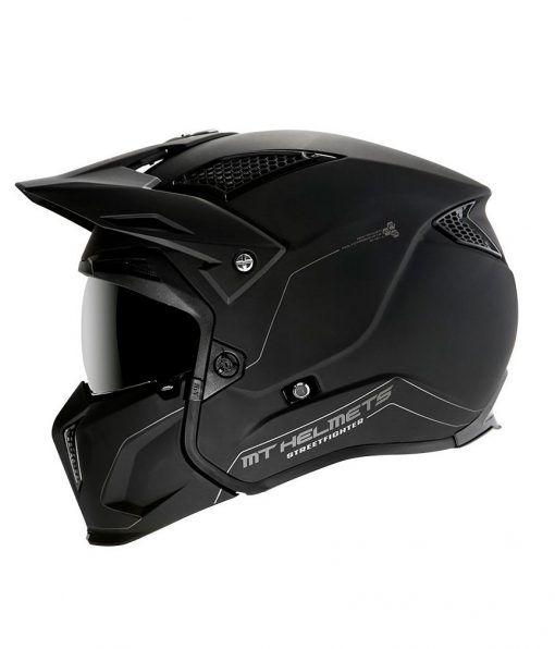 Casco MT STREETFIGHTER SV NEGRO Convertible