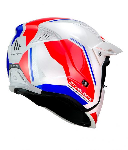 Casco MT STREETFIGHTER SV BLANCO/AZUL Convertible