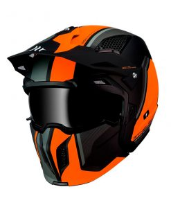 Casco MT STREETFIGHTER SV NARANJA Convertible