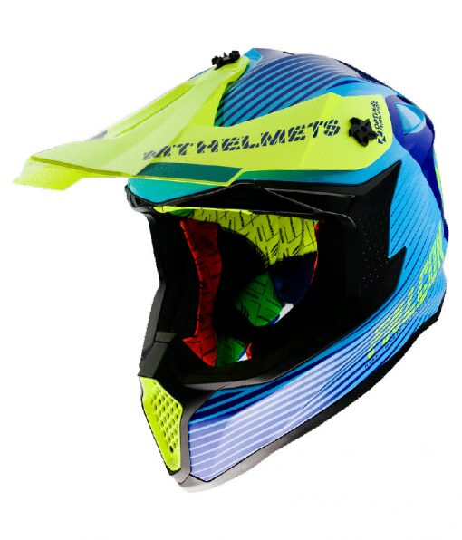 Casco MT FALCON SYSTEM C3 GLOSS FLUOR YELLOW Off Road