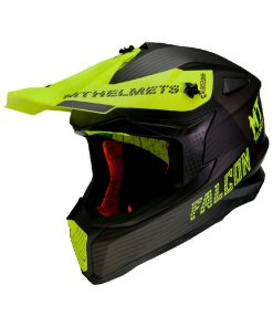 Casco MT FALCON SYSTEM D3 MATT FLUOR YELLOW Off Road