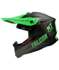 Casco MT FALCON SYSTEM D6 MATT FLUOR GREEN Off Road