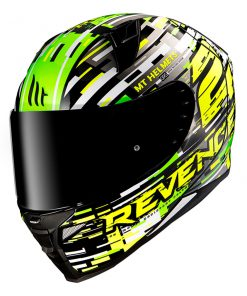 Casco MT REVENGE 2 BAYE A6 GLOSS PEARL FLUOR GREEN Integral