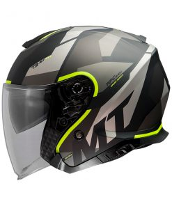 Casco MT THUNDER 3 SV JET BOW A3 MATT FLUOR YELLOW jet