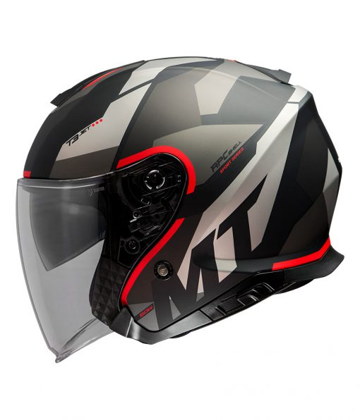 Casco MT THUNDER 3 SV JET BOW A5 MATT RED jet