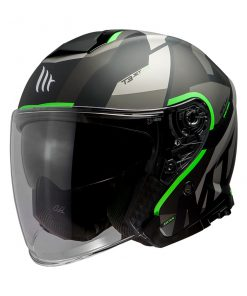 Casco MT THUNDER 3 SV JET BOW A6 MATT FLUOR GREEN jet