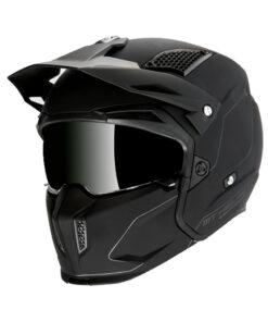 Casco MT STREETFIGHTER SV NEGRO Convertible. cascos pirata motos