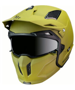 Casco MT STREETFIGHTER SV VERDE Convertible. cascos pirata motos
