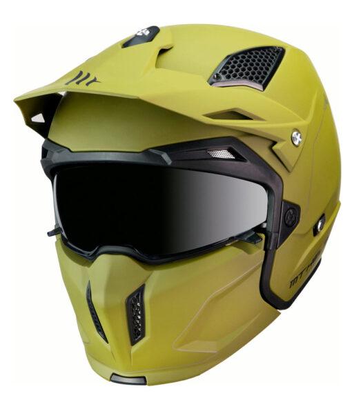 Casco MT STREETFIGHTER SV VERDE Convertible. cascos pirata motos