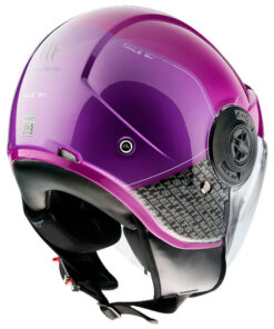 Casco MT VIALE SV BREAK A8 GLOSS PINK jet