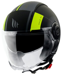 Casco MT VIALE SV PHANTOM C3 MATT FLUOR YELLOW jet