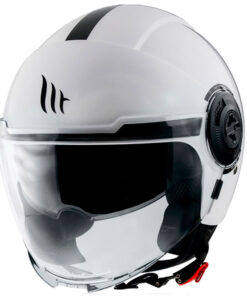 Casco MT VIALE SV SOLID A0 GLOSS PEARL WHITE jet