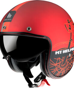 Casco HELMET MT OF507SV LE MANS 2 SV CAFE RACER B5 MATE ROJO