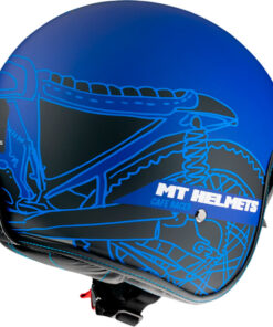 Casco helmet mt of507sv le mans 2 sv cafe racer b7 matt azul jet