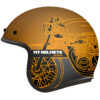 Casco HELMET MT OF507SV LE MANS 2 SV CAFE RACER B9 MATT GOLD