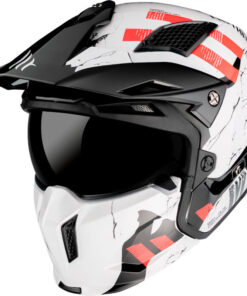 Casco MT STREETFIGHTER SKULL2020 A0 GLOSS PEARL BLANCO Convertible