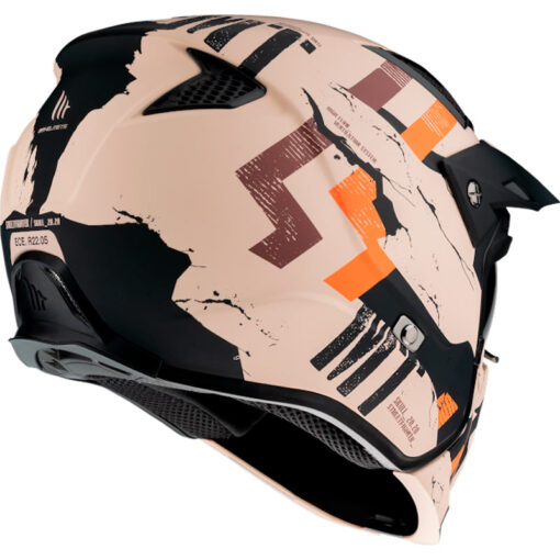 Casco MT STREETFIGHTER SKULL2020 A14 MATE NARANJA Convertible