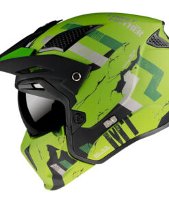 Casco MT STREETFIGHTER SKULL2020 A16 MATE VERDE Convertible